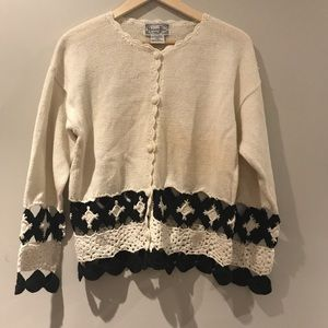 Reference Point crochet knit cardigan